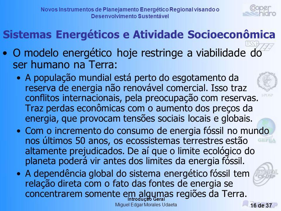 Sistemas Energéticos e Atividade Socioeconômica