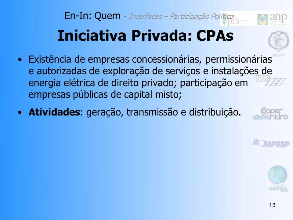 Iniciativa Privada: CPAs