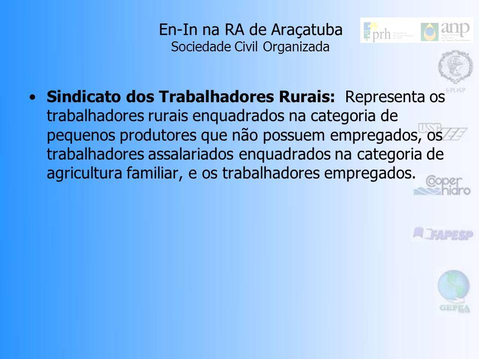 En-In na RA de Araçatuba Sociedade Civil Organizada