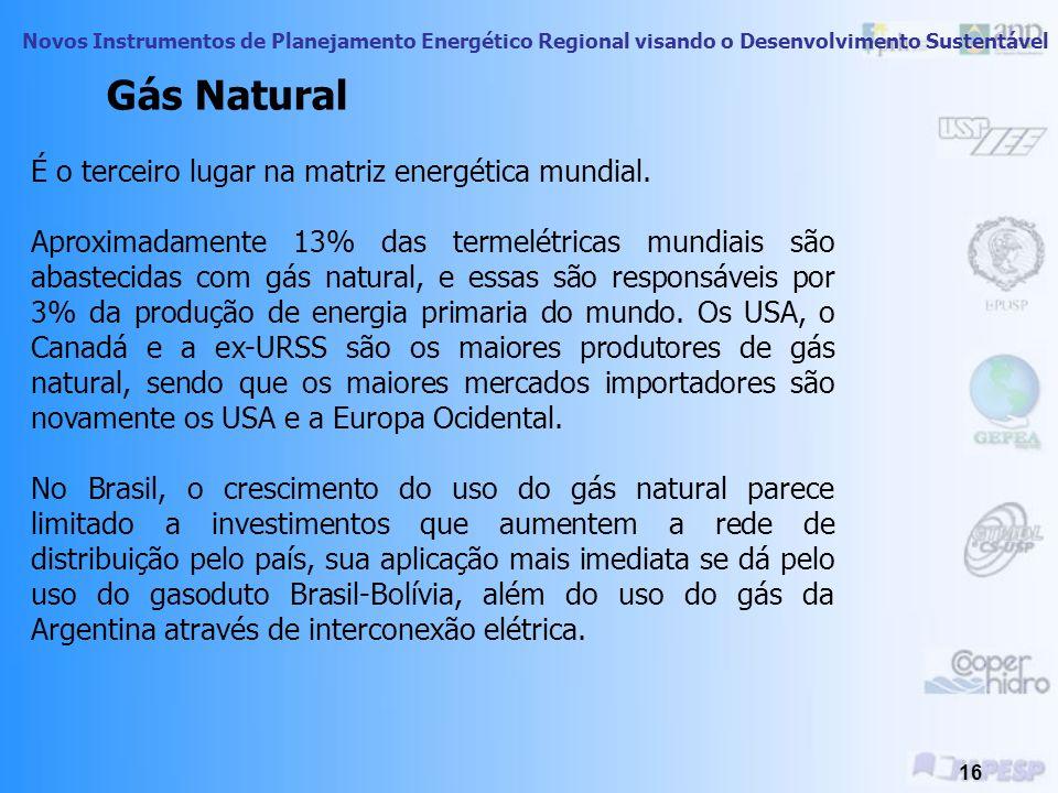Gás Natural É o terceiro lugar na matriz energética mundial.