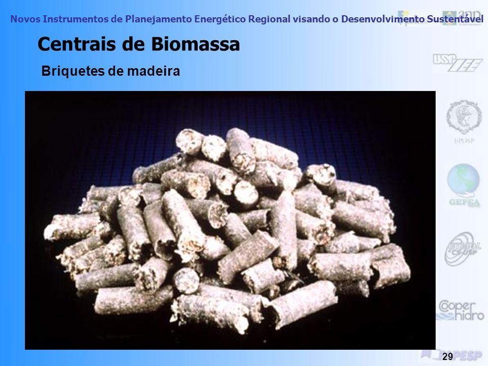 Centrais de Biomassa Briquetes de madeira