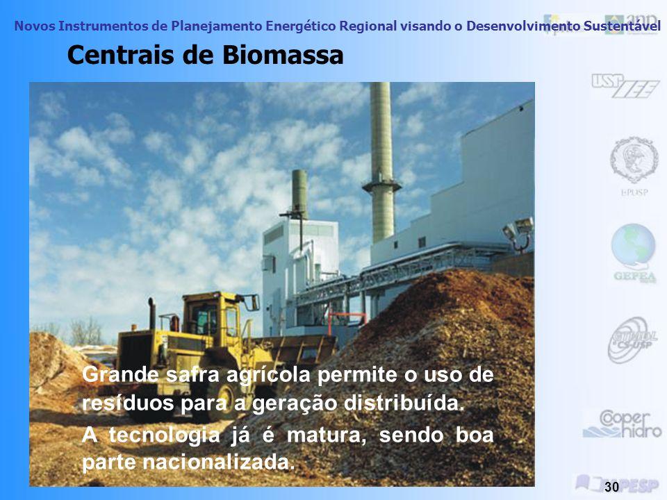 Centrais de Biomassa Grande safra agrícola permite o uso de resíduos para a geração distribuída.
