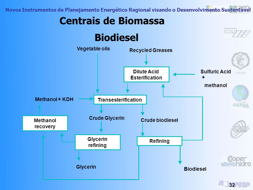 Centrais de Biomassa Biodiesel Vegetable oils Recycled Greases