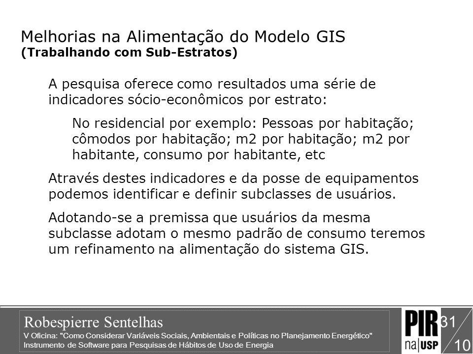 Melhorias na Alimentação do Modelo GIS (Trabalhando com Sub-Estratos)