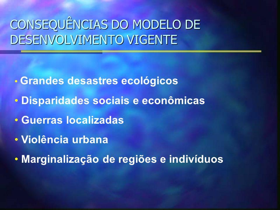 CONSEQUÊNCIAS DO MODELO DE DESENVOLVIMENTO VIGENTE