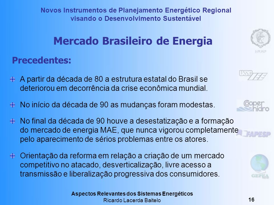 Mercado Brasileiro de Energia