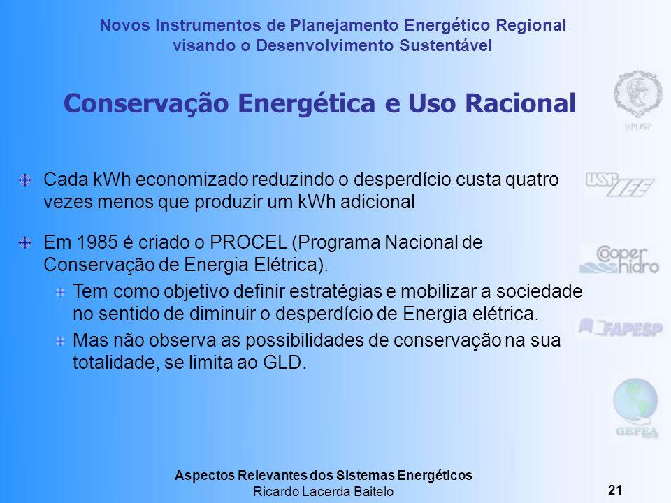 Conservação Energética e Uso Racional