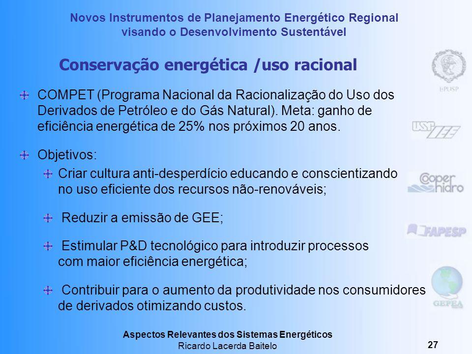 Conservação energética /uso racional