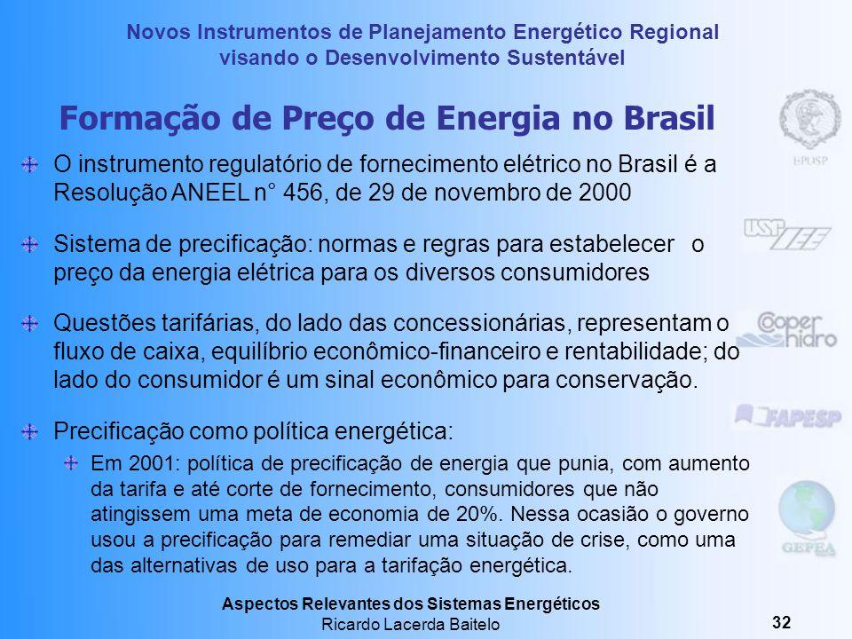 Formação de Preço de Energia no Brasil