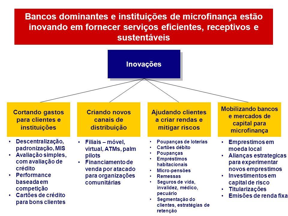 Bancos dominantes e instituições de microfinança estão inovando em fornecer serviços eficientes, receptivos e sustentáveis