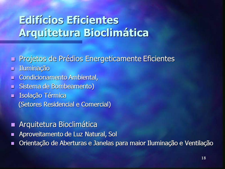 Edifícios Eficientes Arquitetura Bioclimática