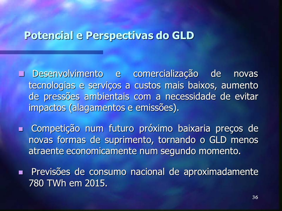 Potencial e Perspectivas do GLD