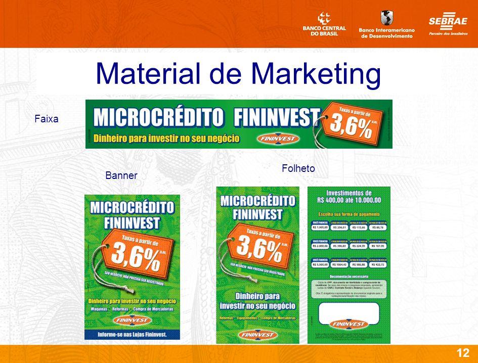 Material de Marketing Faixa Folheto Banner