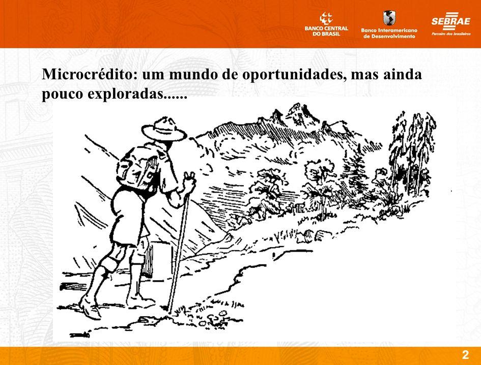 Microcrédito: um mundo de oportunidades, mas ainda pouco exploradas......