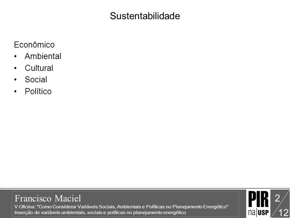 Sustentabilidade Econômico Ambiental Cultural Social Político