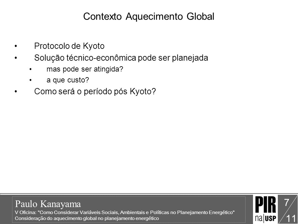 Contexto Aquecimento Global