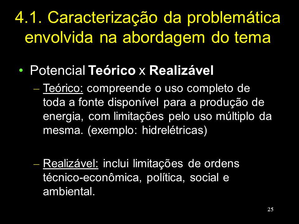 4.1. Caracterização da problemática envolvida na abordagem do tema