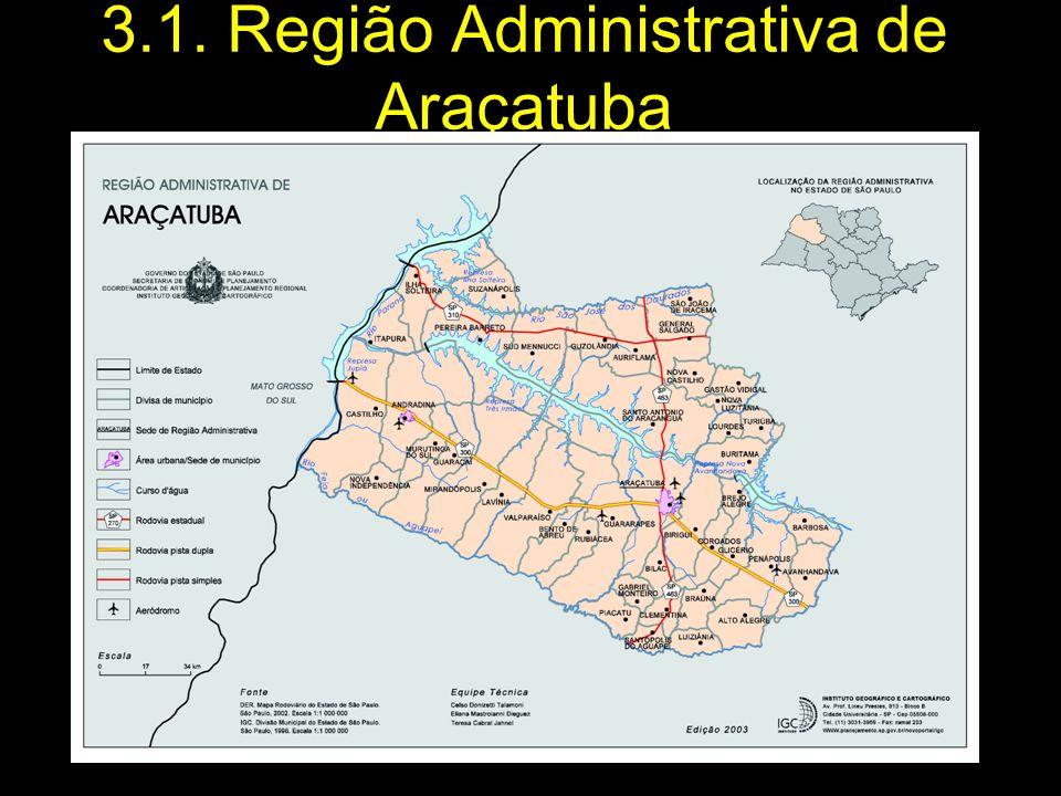 3.1. Região Administrativa de Araçatuba
