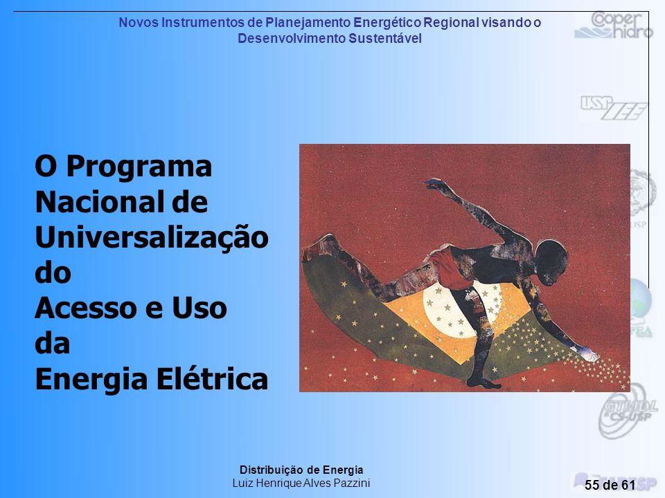 O Programa Nacional de Universalização do Acesso e Uso da Energia Elétrica