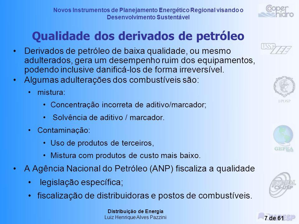 Qualidade dos derivados de petróleo