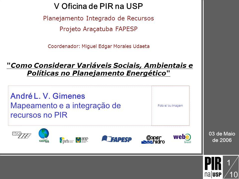 Mapeamento e a integração de recursos no PIR