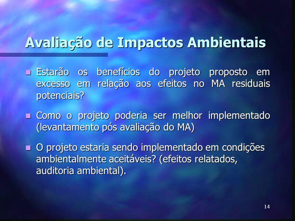 Avaliação de Impactos Ambientais