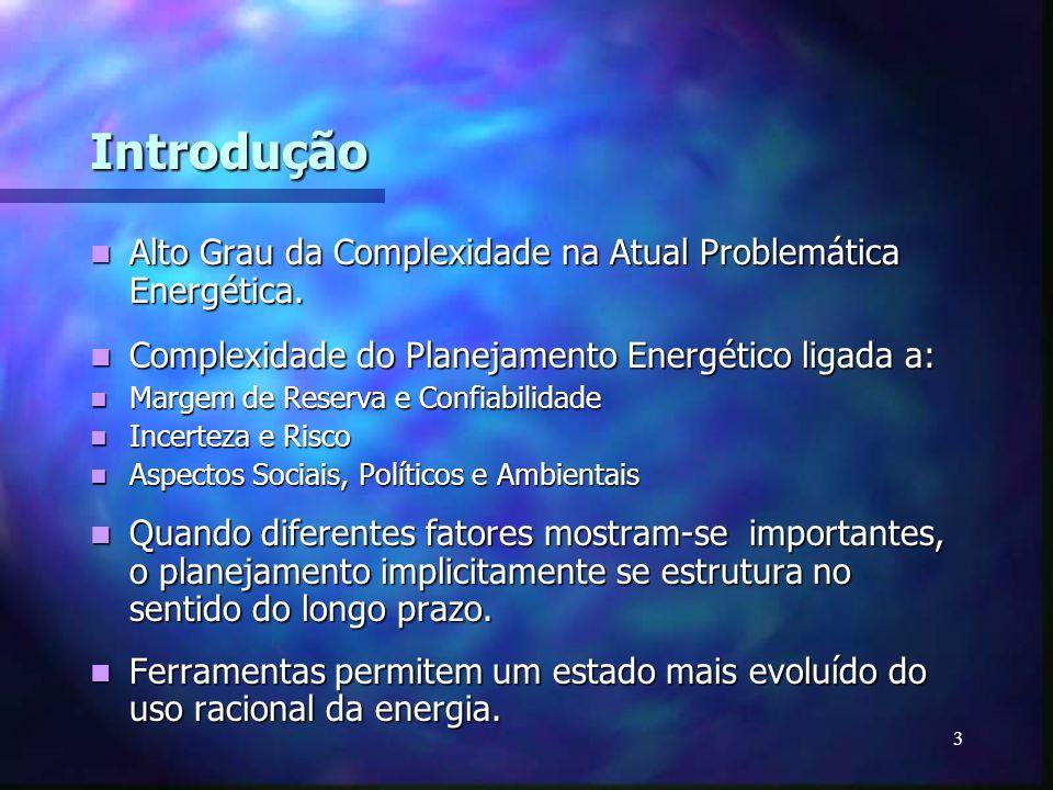 Introdução Alto Grau da Complexidade na Atual Problemática Energética.