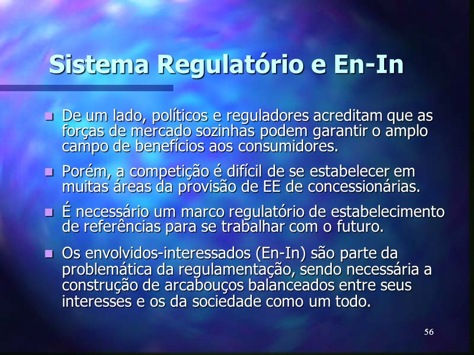 Sistema Regulatório e En-In