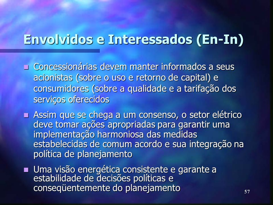 Envolvidos e Interessados (En-In)