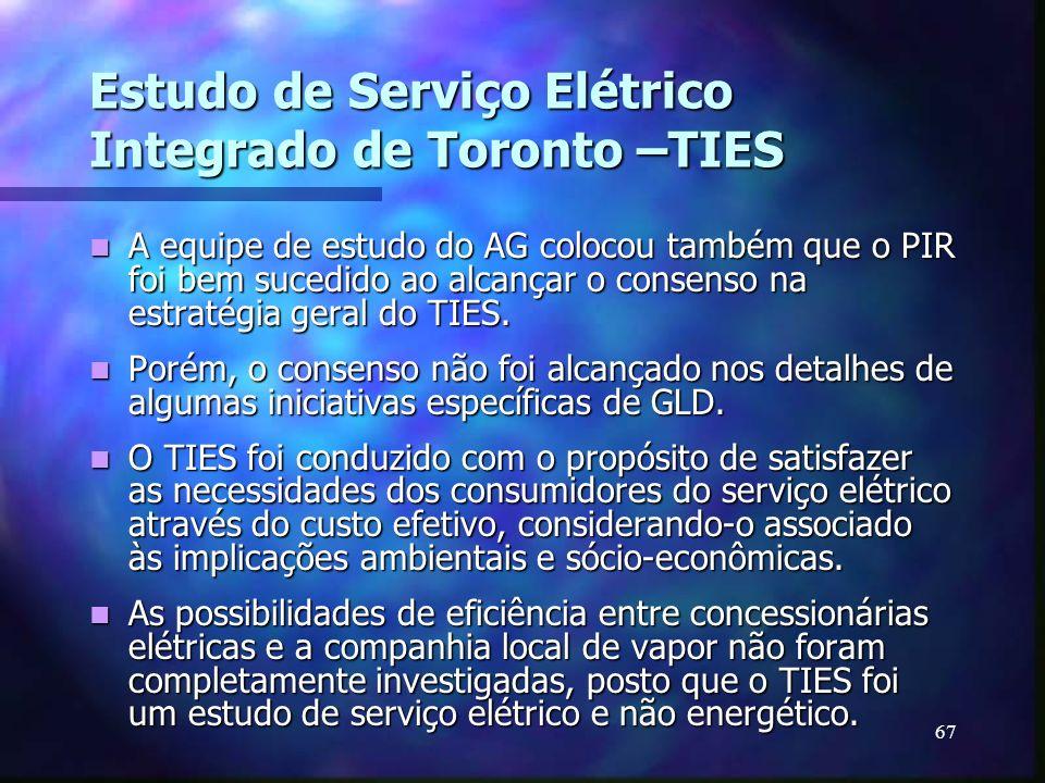 Estudo de Serviço Elétrico Integrado de Toronto –TIES