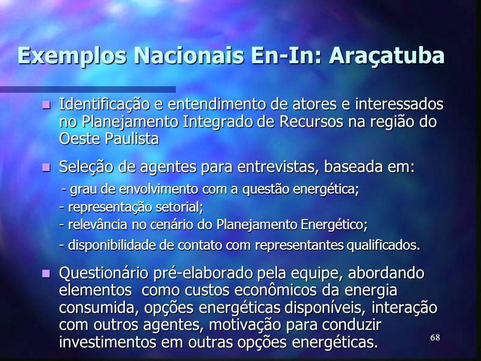 Exemplos Nacionais En-In: Araçatuba
