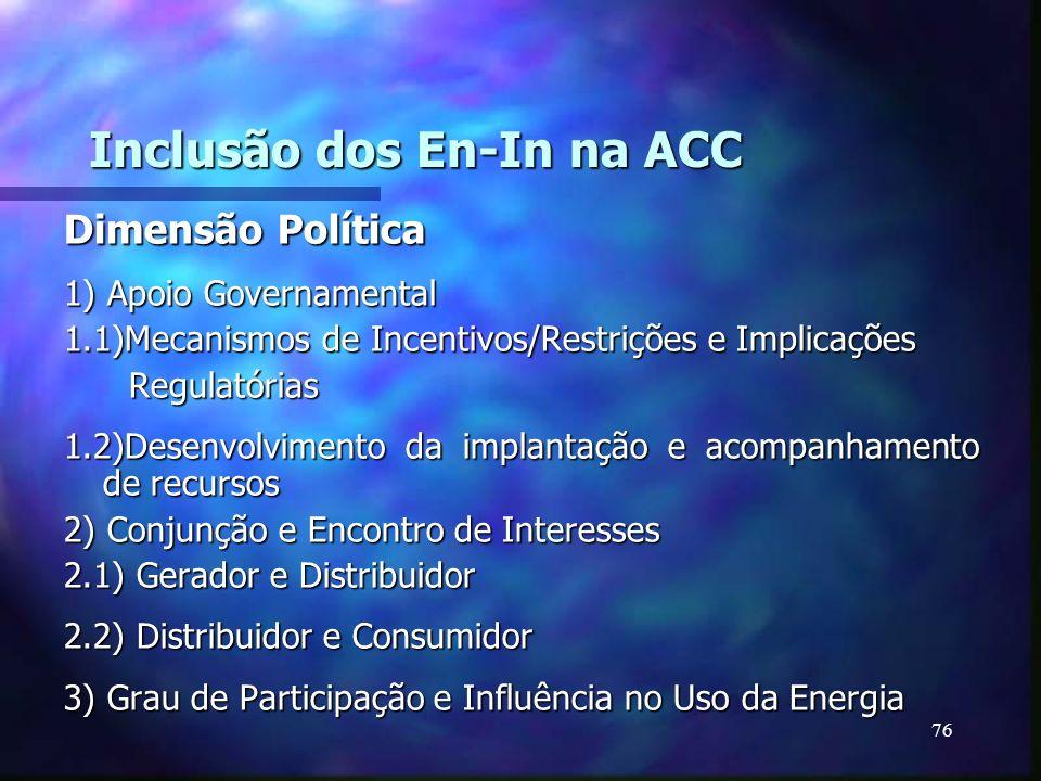 Inclusão dos En-In na ACC