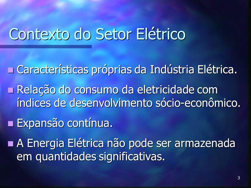 Contexto do Setor Elétrico