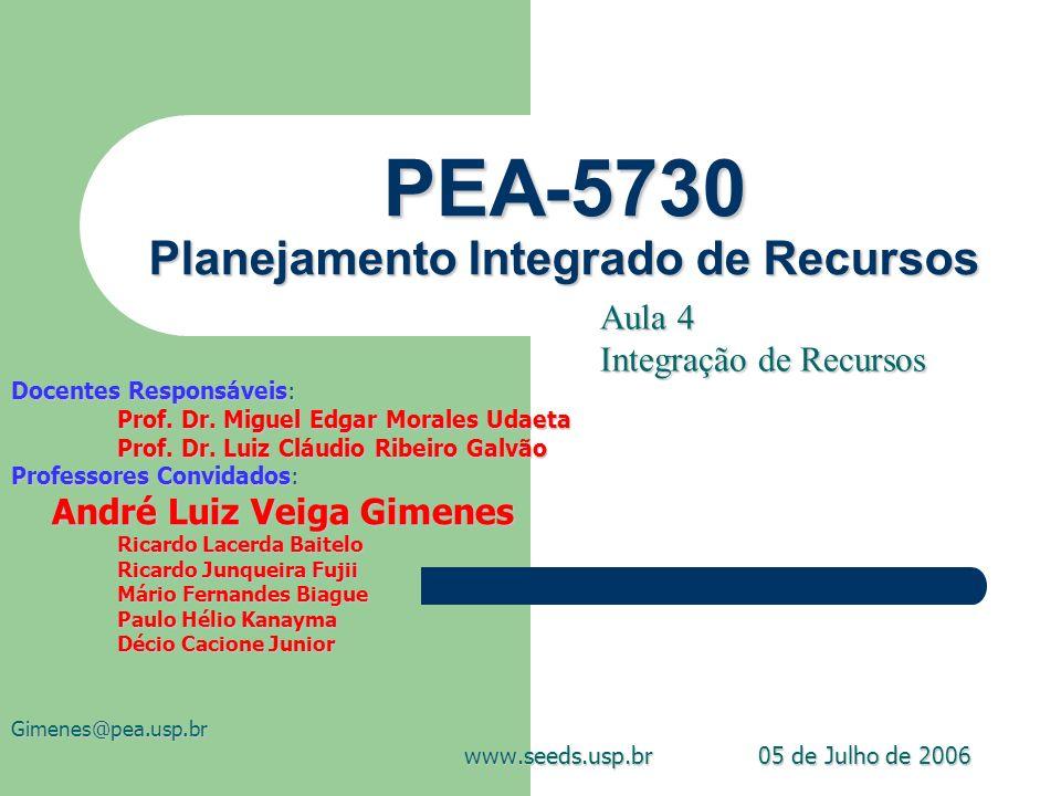 PEA-5730 Planejamento Integrado de Recursos
