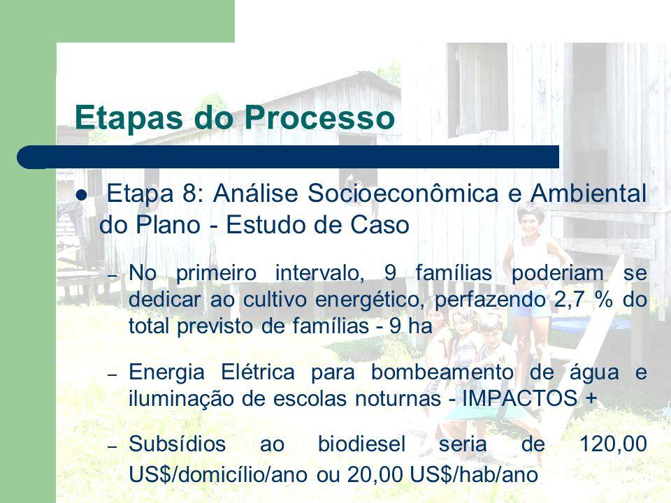 Etapas do Processo Etapa 8: Análise Socioeconômica e Ambiental do Plano - Estudo de Caso.