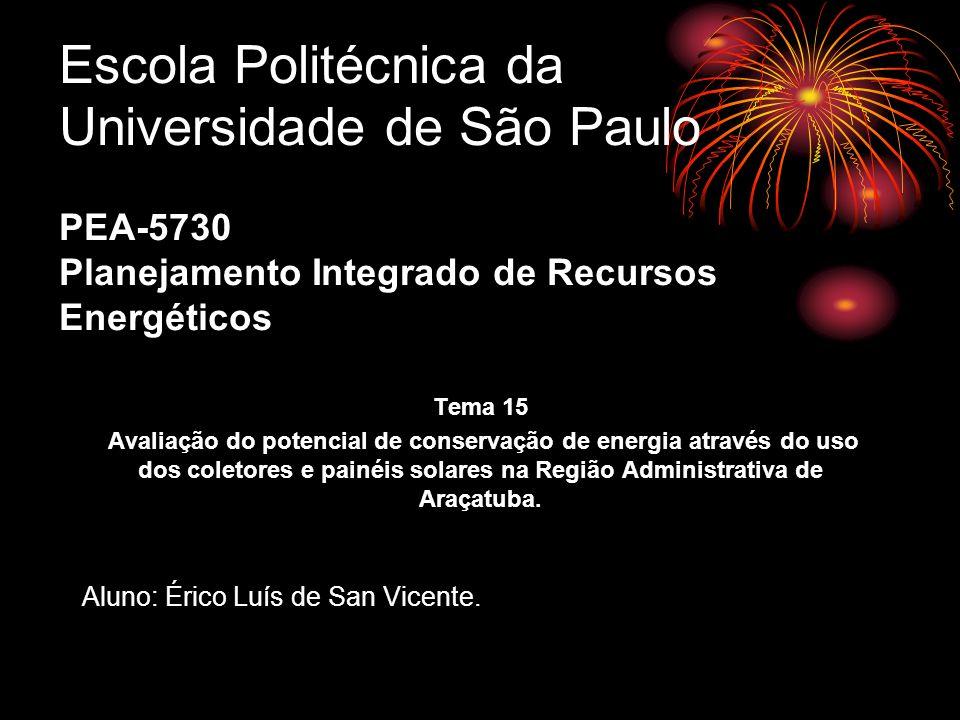 Escola Politécnica da Universidade de São Paulo PEA-5730 Planejamento Integrado de Recursos Energéticos