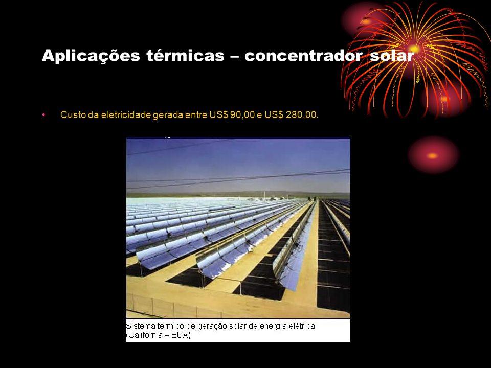 Aplicações térmicas – concentrador solar