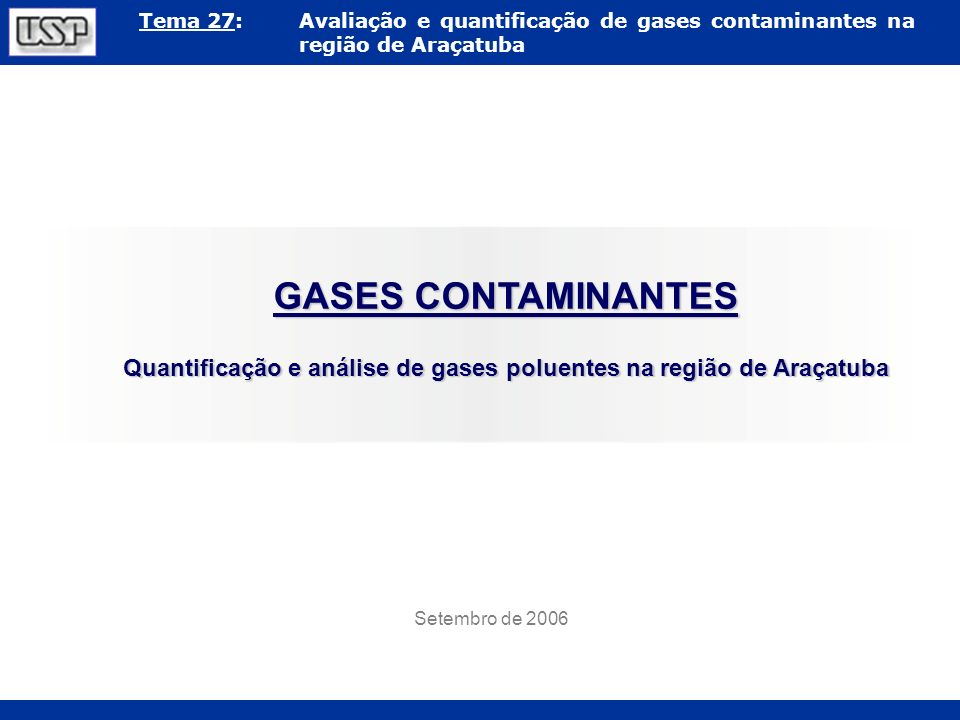 Quantificação e análise de gases poluentes na região de Araçatuba