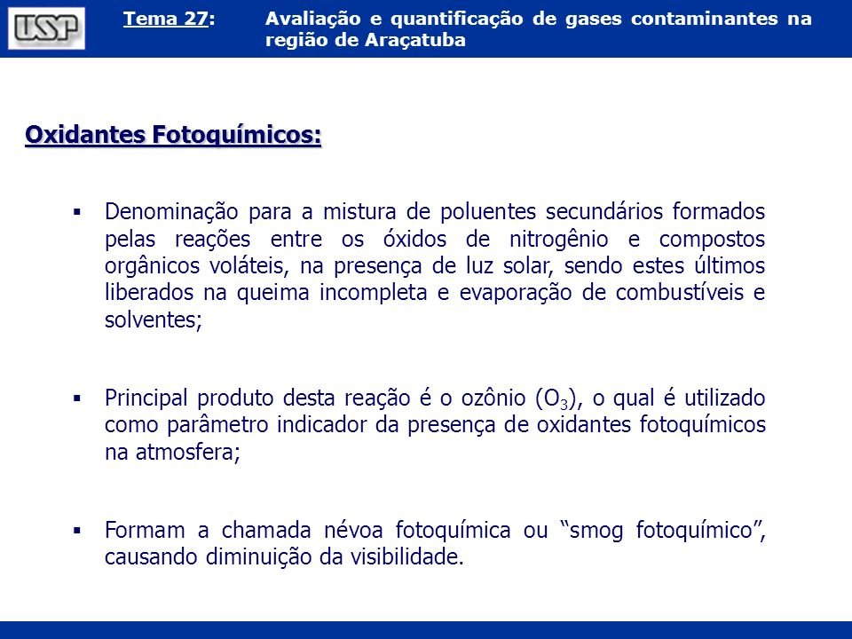 Oxidantes Fotoquímicos: