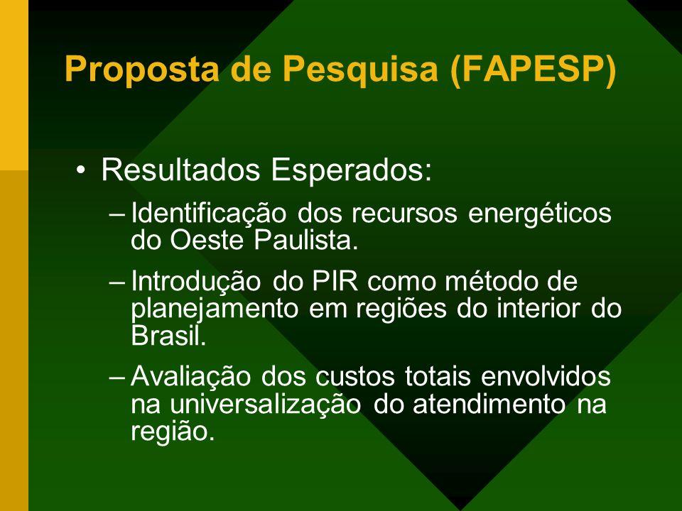 Proposta de Pesquisa (FAPESP)