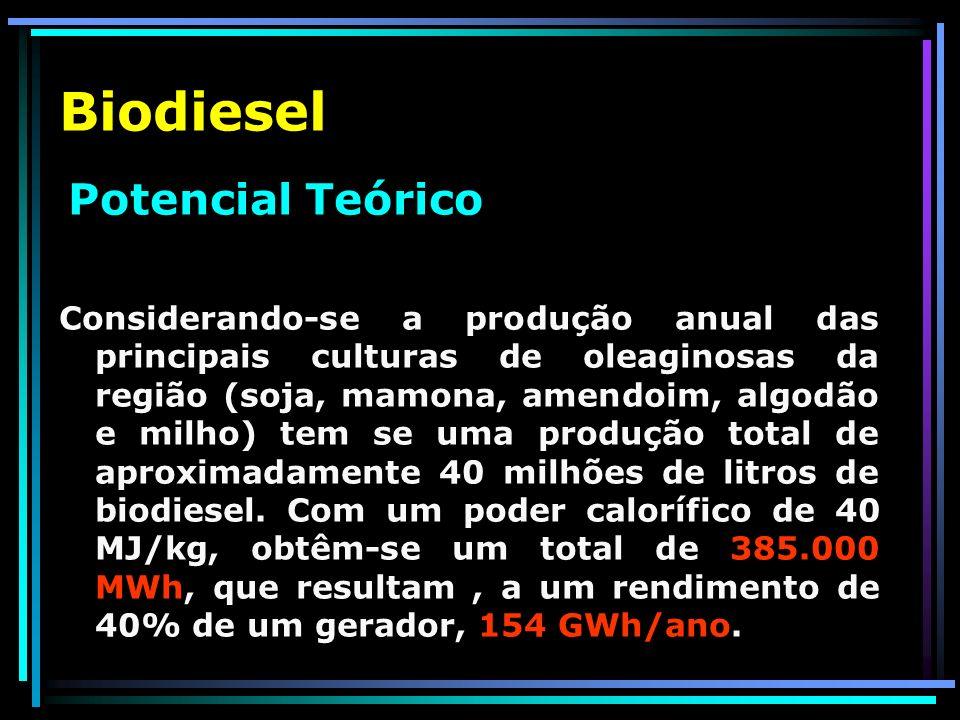 Biodiesel Potencial Teórico.