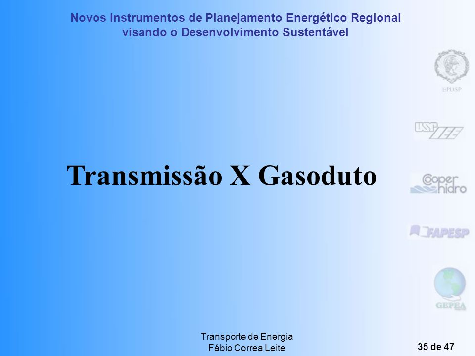 Transmissão X Gasoduto