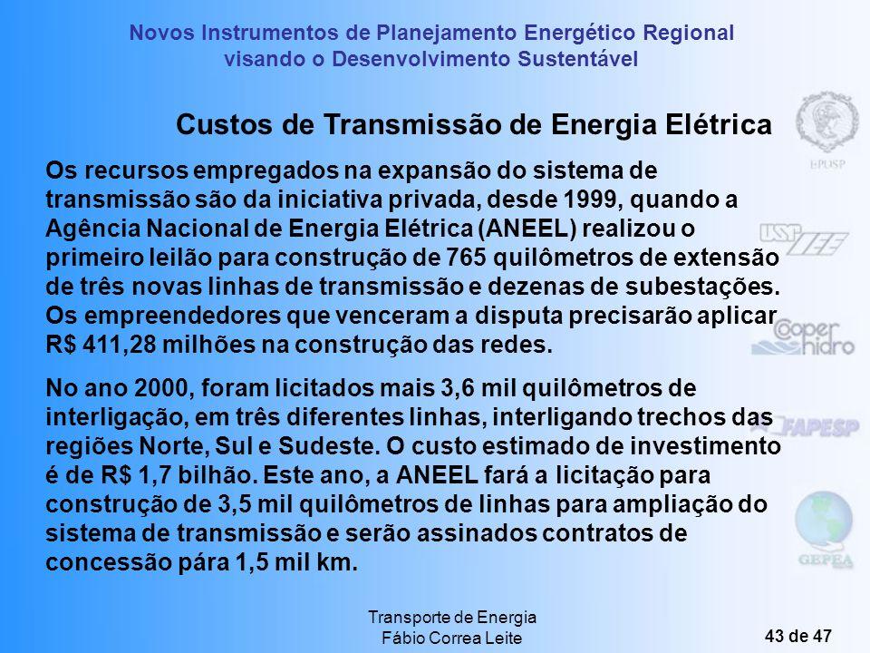 Custos de Transmissão de Energia Elétrica