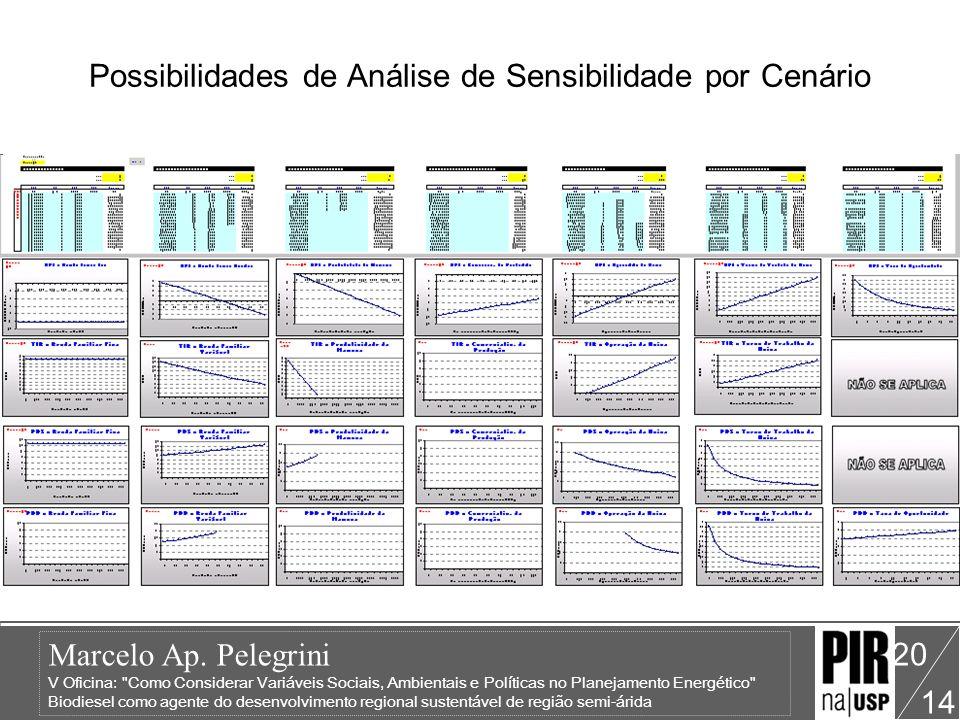 Possibilidades de Análise de Sensibilidade por Cenário