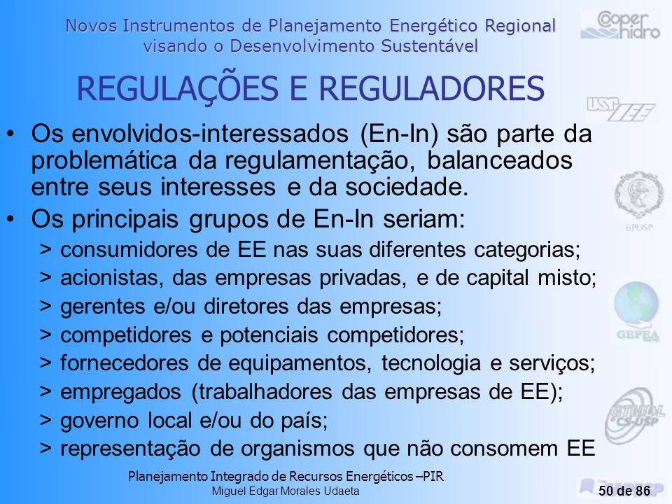 REGULAÇÕES E REGULADORES