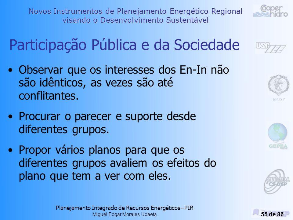 Participação Pública e da Sociedade