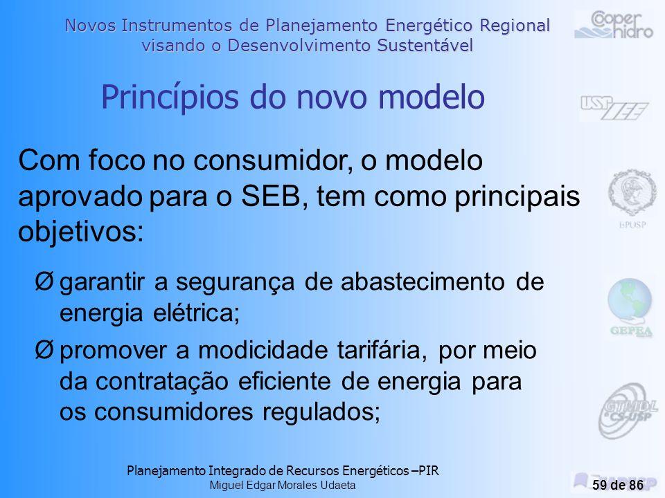 Princípios do novo modelo