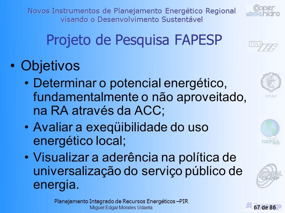 Projeto de Pesquisa FAPESP