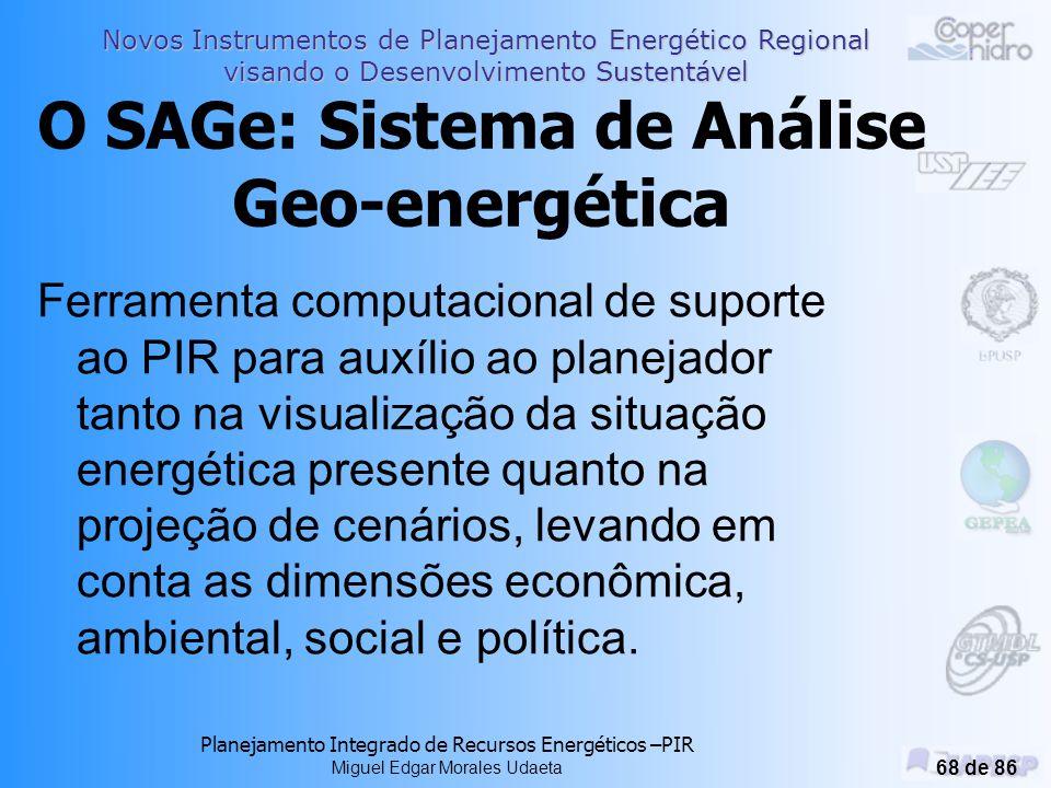 O SAGe: Sistema de Análise Geo-energética
