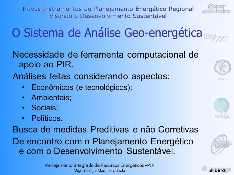 O Sistema de Análise Geo-energética